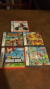 Selling 5 nintendo ds games for 50 dollars