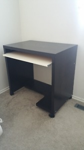 Small Ikea desk with pullout tray