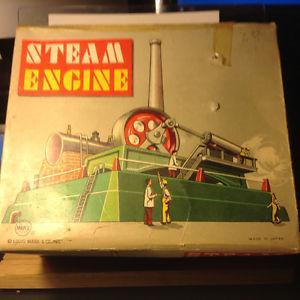 Vintage Live Steam Engine Toy w/Box