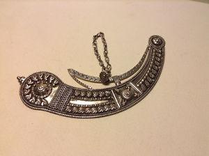 Vintage Military Sultan Of Oman Silver Badges 925 Jambiya