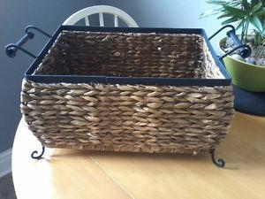 WROUGHT IRON WITH WICKER BASKET