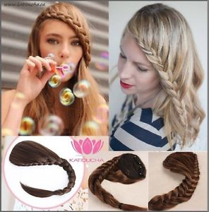 CLIP IN Hair extension, braid fringe in all colors!