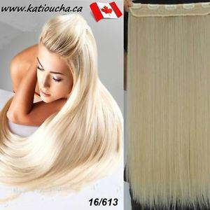 "Clip in hair extension,Straight hair,60 cm, 24"", Color"