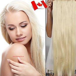 "Clip in hair extension,Straight hair,60 cm, 24"", Color #613"