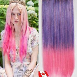 "Clip in hair extension,Straight hair,60 cm, 24"",LIGHT PINK"
