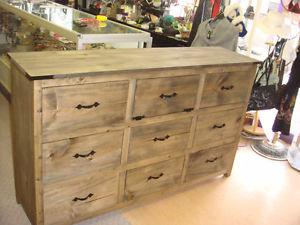 Custom made rustic dresser, tables and mirrors