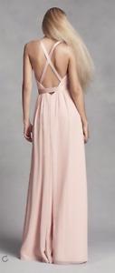 **GRAD DRESS - Light Pink Backless Vera Wang Dress