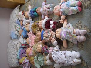 cabage patch dolls + colthing