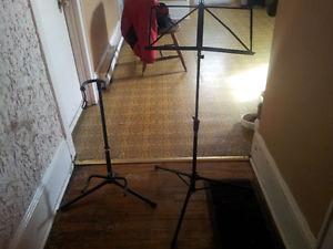 $25 for the 2 i have a guitar stand and a music stand