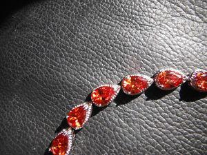 AAA orange zircon bracelet