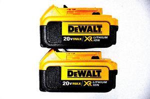 BRAND NEW! DeWALT 20V 4AH Baterry With Fuel Gauge PAIR