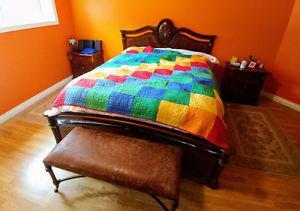 Beautiful Queen Bedroom Set - 5 Pieces