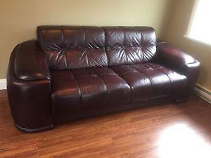 Couch and love seat (leather)