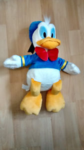 "Disney Authentic Patch Donald Duck BIG Stuffed Plush 18"" NEW"