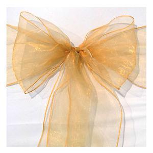 Gold organza wedding sashes