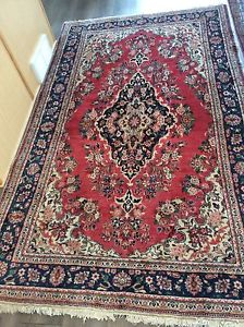 Gorgeous Authentic Vintage Persian Carpet Rug Hand Knotted