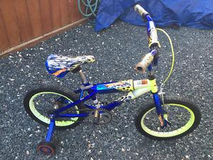 "Hot Wheels bike (16"" wheels)"