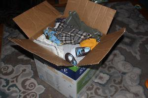 Kirkland box of baby boy clothes