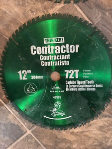 """New 12"""" contractor blades carbide tipped"""