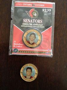 Ottawa Senators Ottawa Citzen Medallions