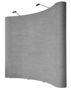 Pop-up trade show display wall 8'x10'