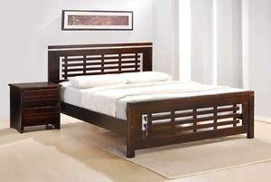 Queen Solid hardwood bed frame with euro top matt, NEW IN