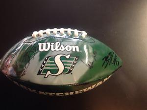 Rider Grey Cup signed football