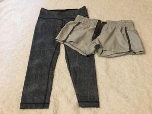 Size 6 Lululemon Shorts and Capri Pants