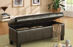 Storage bench, 18 x 44, hardwood framing, NEW in boxes