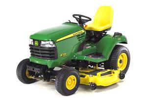 Weekend lawn tractor service or repair.