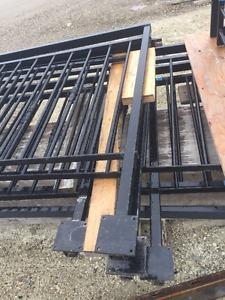 black wrought iron deck railing