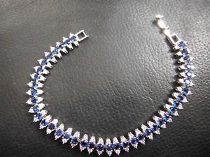 blue and white sapphire bracelet