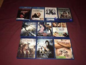 lot of 10 Blu Ray 20$ for all 5$ each