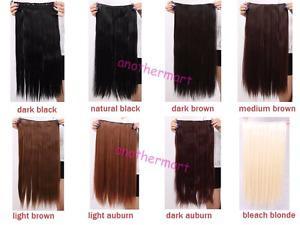 3/4 full head Bleach Blonde 1 clip hair extensions