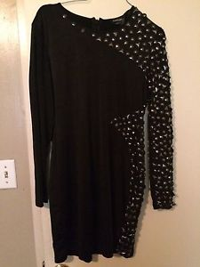 Bebe black dress size X/L