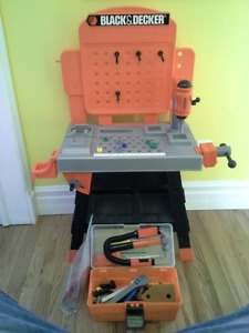 Black and Decker Toy Tool Set w) Toolbox Full of Tools