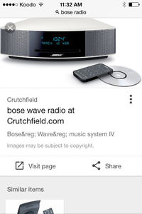 Bose stereo system. loud and great sou