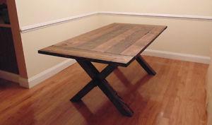 Custom trestle table