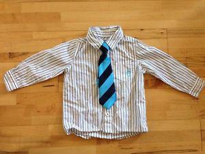 EUC Please Mum  months dress shirt and tie