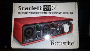 Focusrite 2 Chanel USB Recording Interface Almost New!