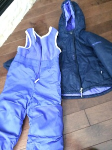 Girls Columbia Snowsuit Size 4T