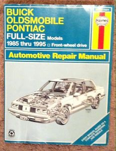 Haynes GM Service manual for full-size Buick Oldsmobile and