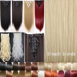 Heat Resistant Bleach Blonde hair extensions