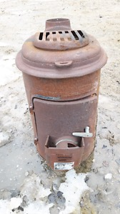 Old antique wood stove for parts