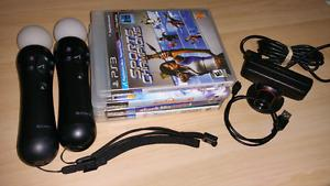 PS3 move camera, controllers and games
