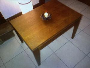 Pair of Vintage Solid Teak Side Tables