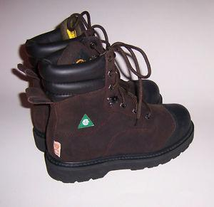 ROAD MATE Lite Men's Leather Steel Toe Work Boots ~ Size 7