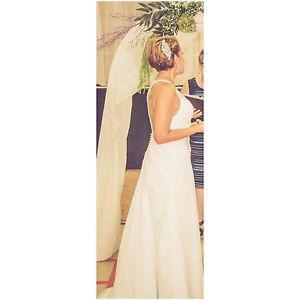 Size 10 White Wedding Dress - $750 OBO