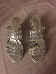 Size 6.5 Wedding Sandals $50 OBO
