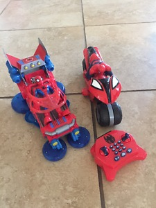 Spiderman Remote Control Motorcycle and Car